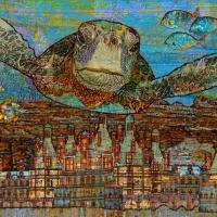 Sea Turtle Over Atlantis