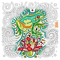 Zen Frog illustration