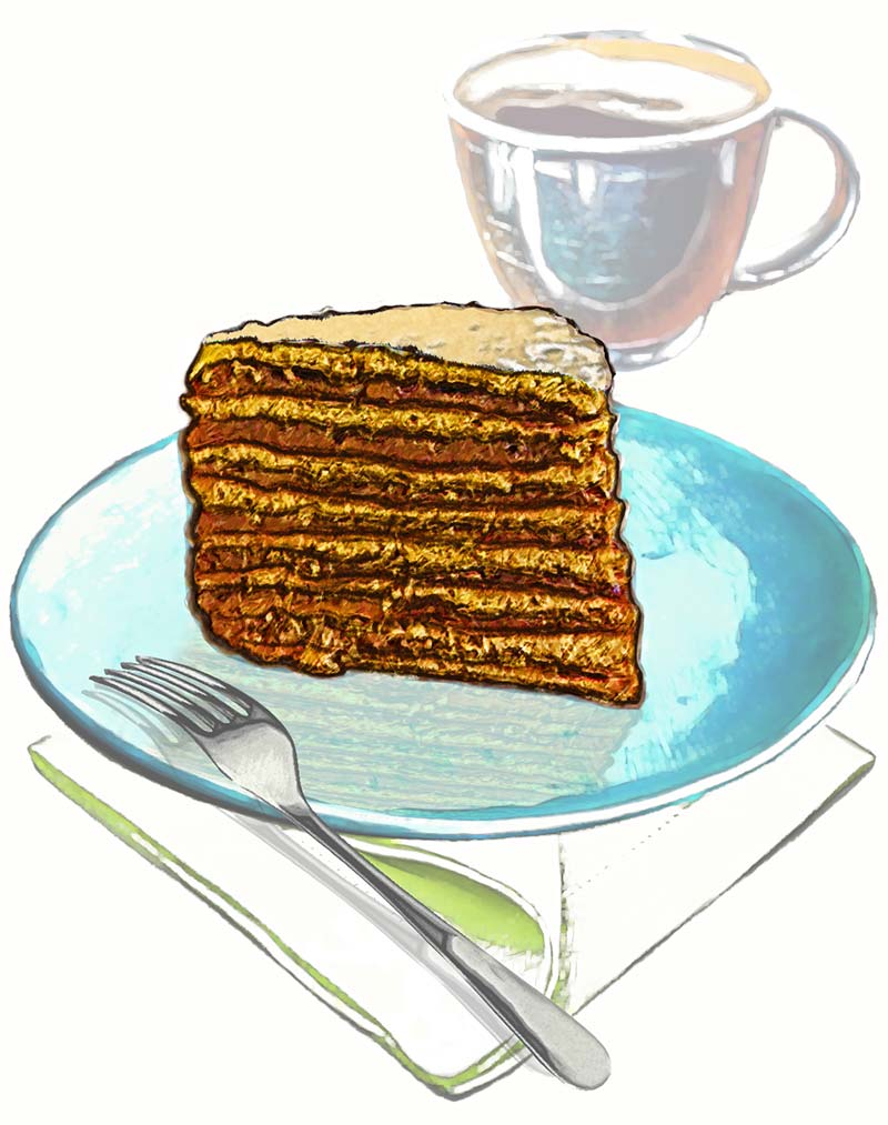 13. Food Illustration: Slice of Cake