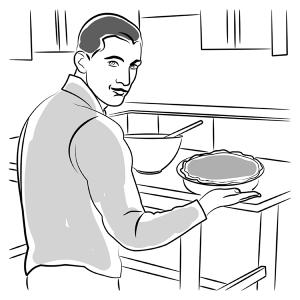 Covert Pie Making illustration