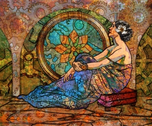 Reclining Woman illustration