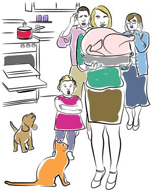 Thanksgiving Disaster illustration