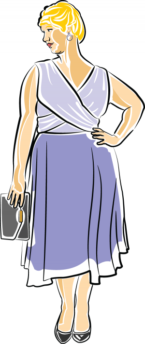 Woman on a Date illustration