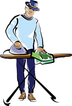 Man Ironing illustration