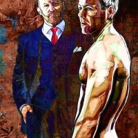 Mycroft Holmes and Greg Lestrade