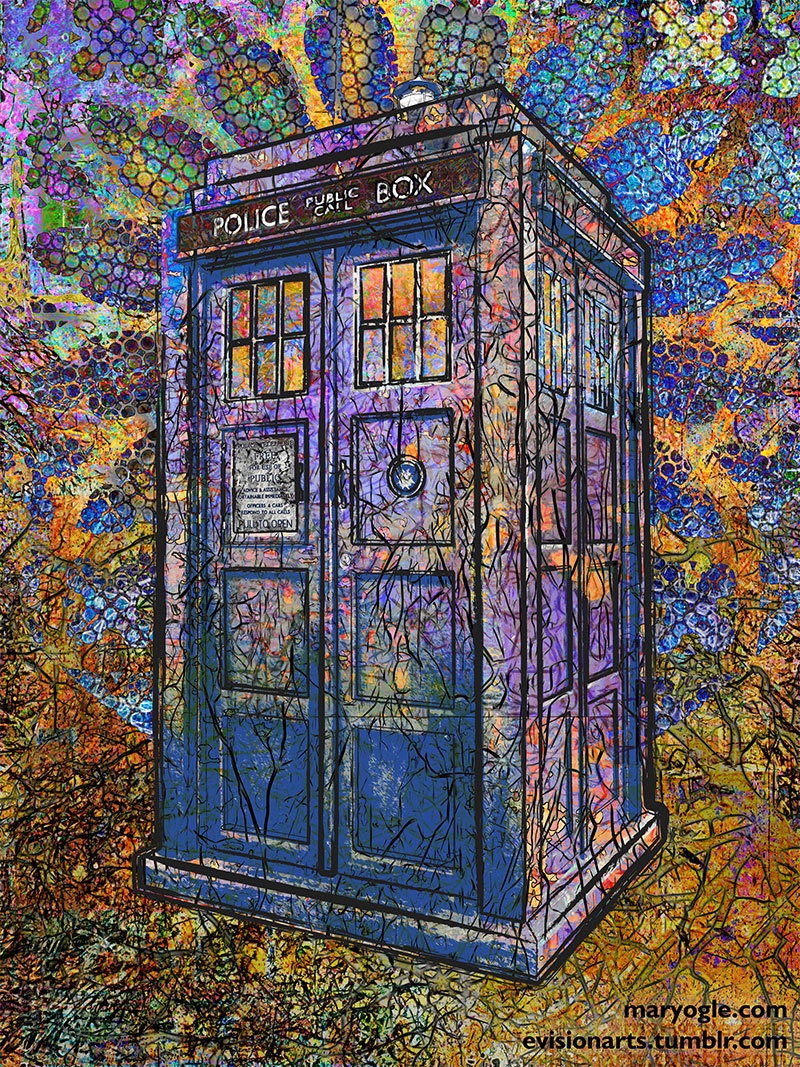 Mary Ogle S Tardis Painting Is Favorited On Twitter By Bbc